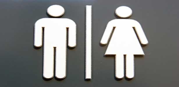 double standard men and women bathroom symbols